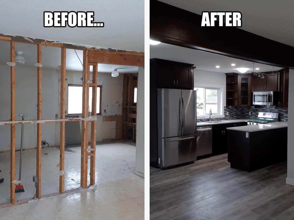 Before and After Suite Renovation